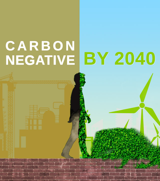 Sustainability for carbon negative by 2040