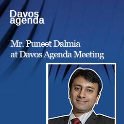 Mr Puneet Dalmia at Davos agenda meeting